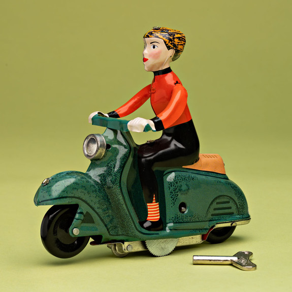 Scooter Girl Toy - Green Scooter
