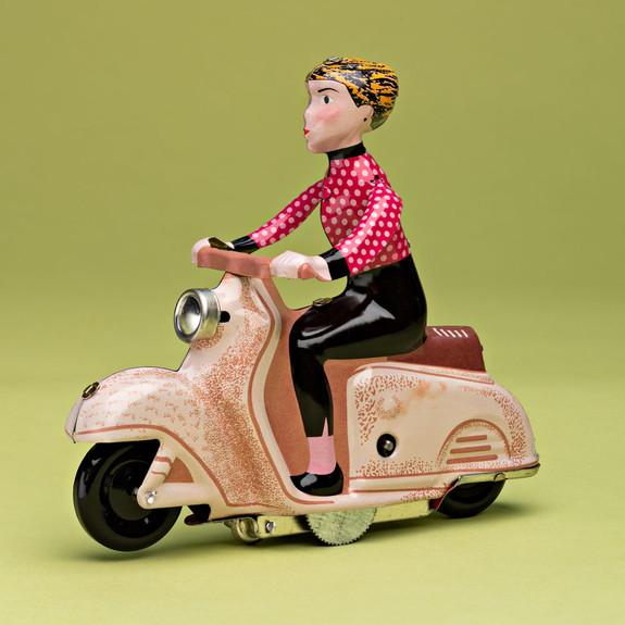 Scooter Girl Toy - Polka Dot Shirt