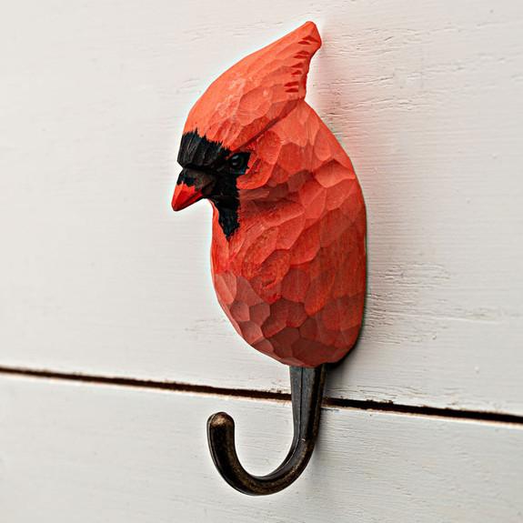 Cardinal Carved Coat Hook