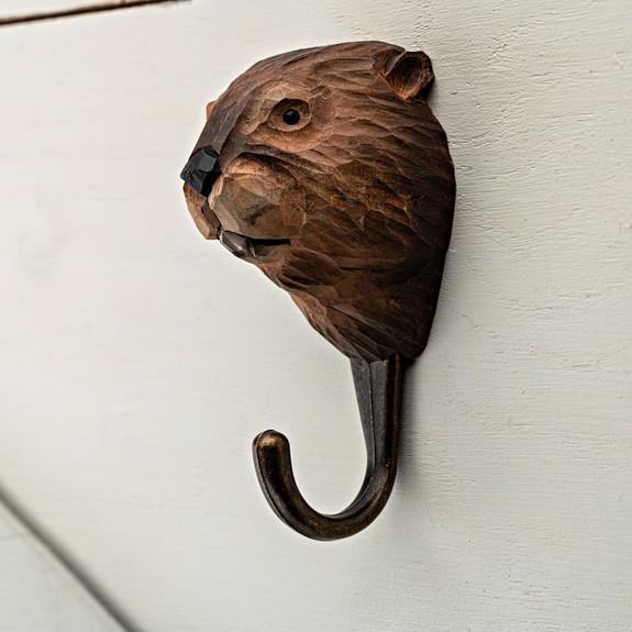 Carved Animal Hooks