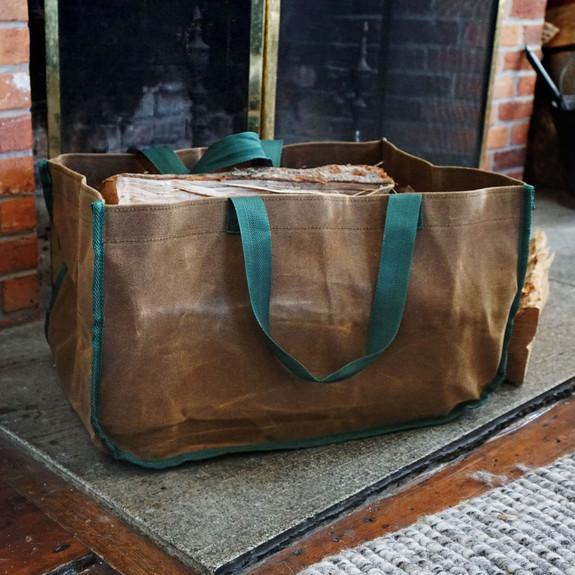 Waxed Canvas Log Carrier
