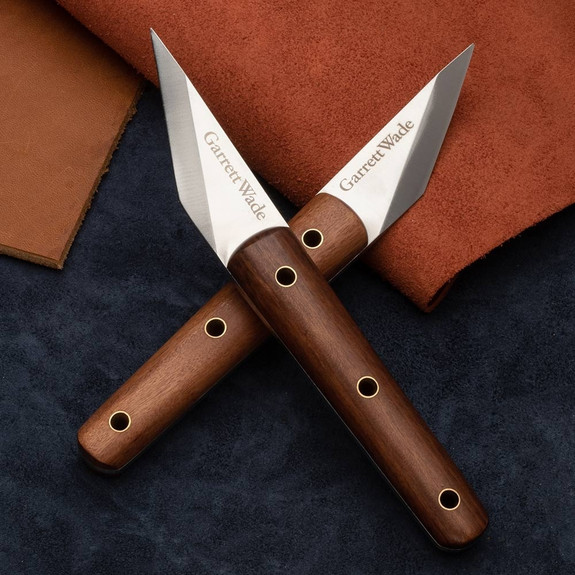 Left and Right Hand Leatherwork Crafting Knives