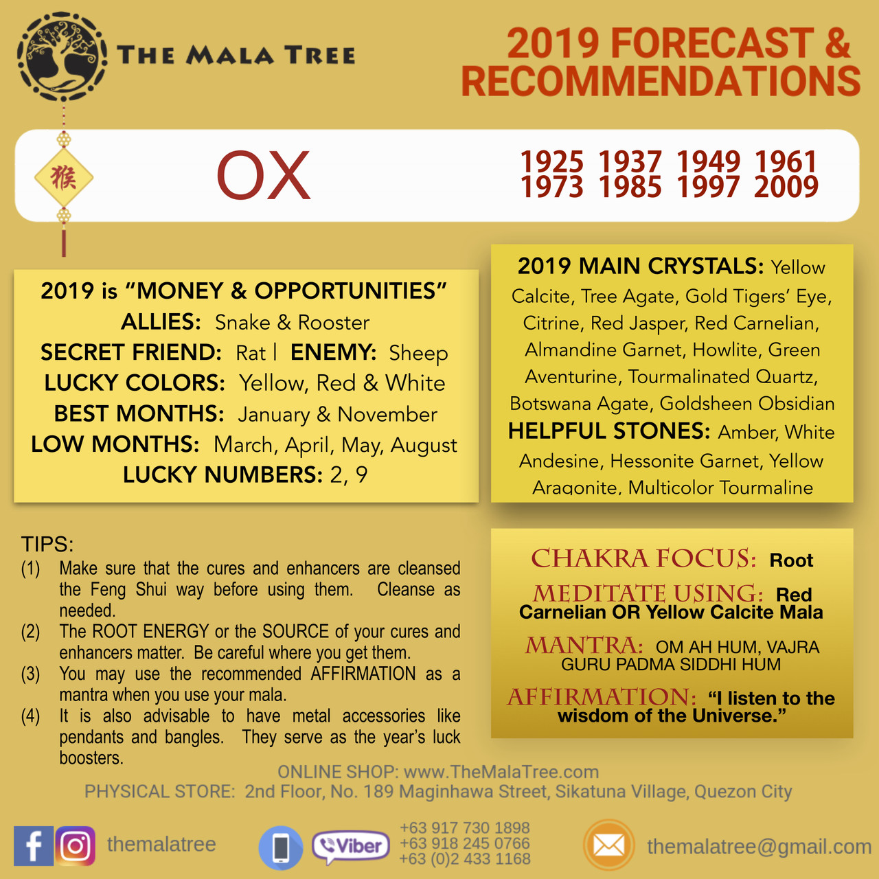 SHOP - 2019 FENG SHUI CRYSTALS & FORECAST - 2019 Year of the