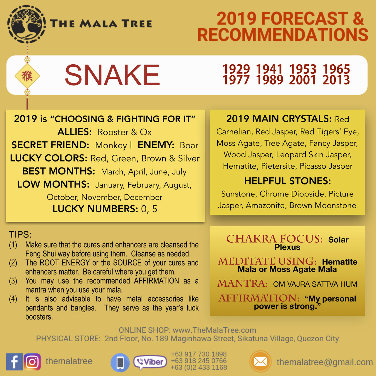 2019 Year of the Snake