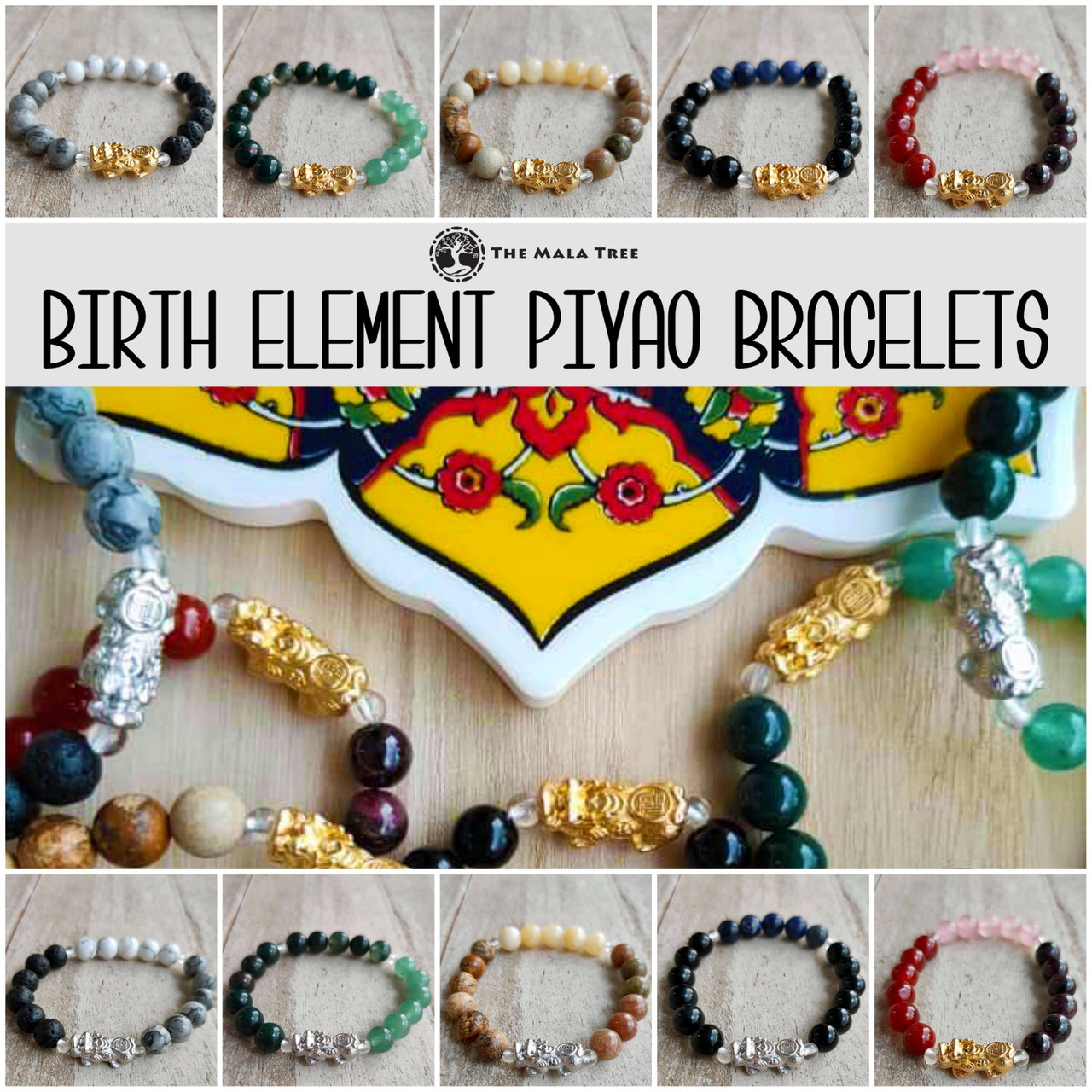 FENG SHUI BIRTH ELEMENT PIYAO BRACELETS