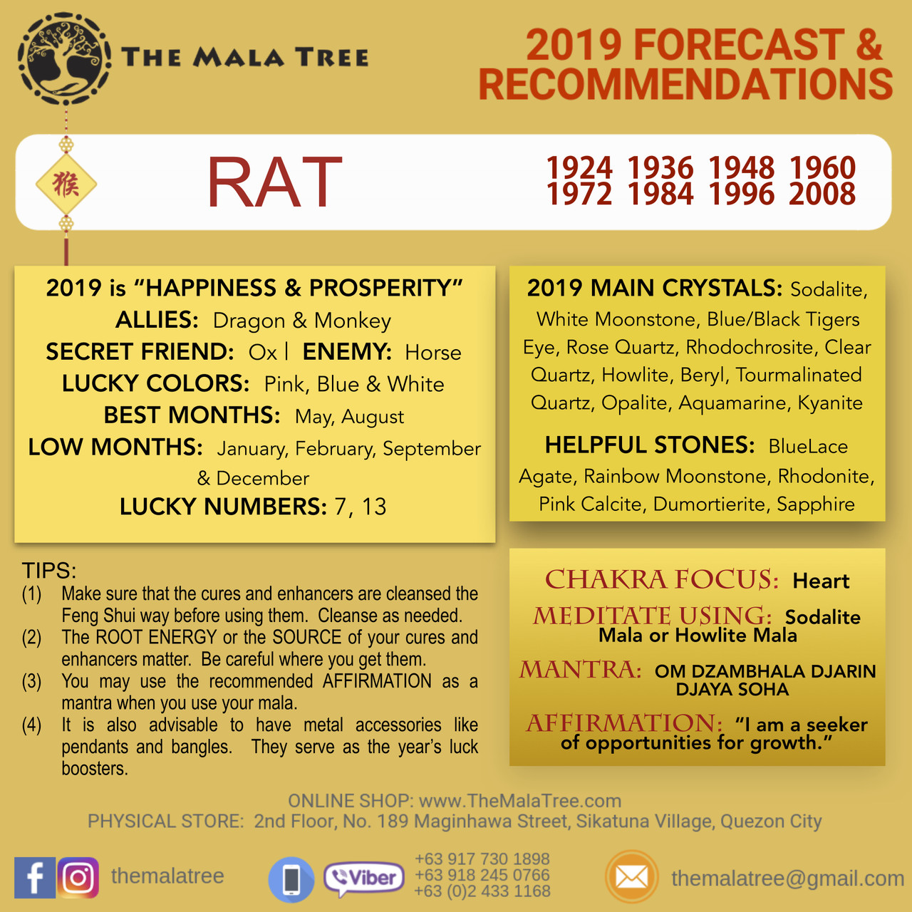 2019 Year of the Rat