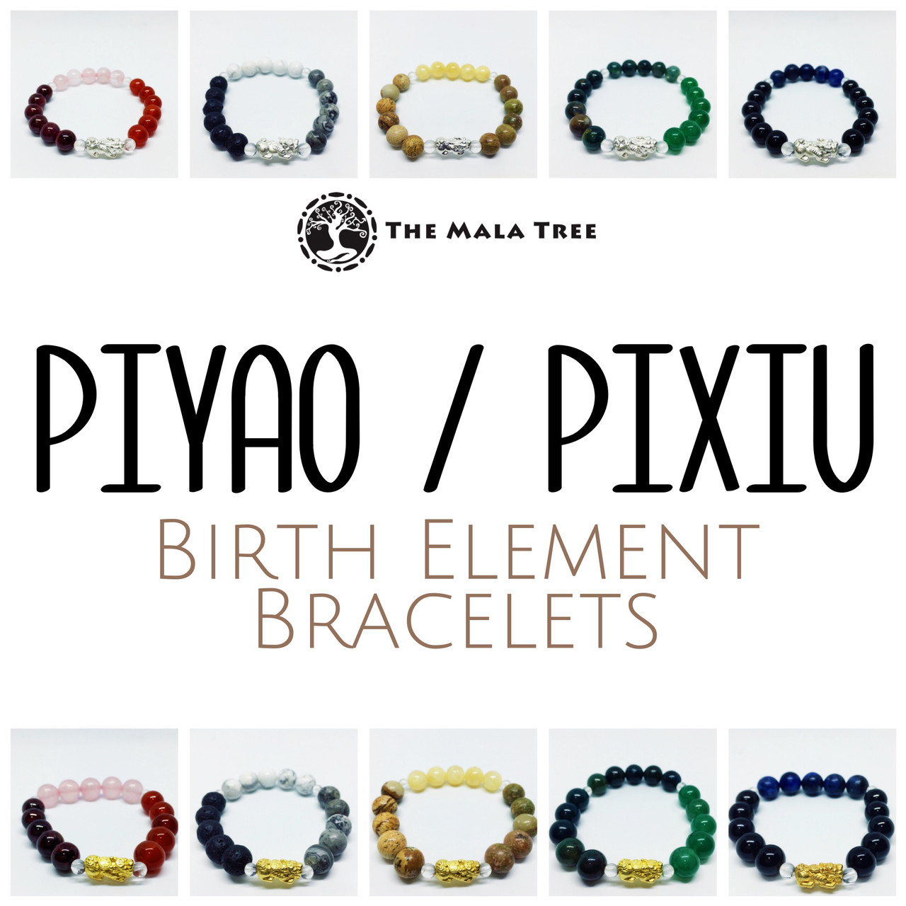 BIRTH ELEMENT PIYAO/PIXIU BRACELETS