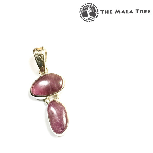 PINK TOURMALINE Lux Pendant 2 (Set in High Quality Silver)