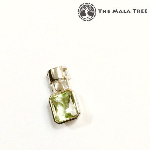 GREEN FLUORITE Lux Pendant 2 (Set in High Quality Silver)