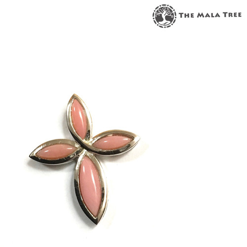 PINK OPAL CROSS Lux Pendant 1 (Set in High Quality Silver)