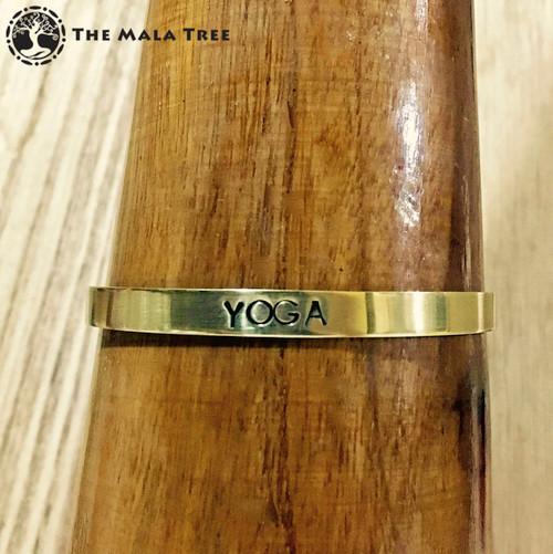 YOGA Brass MantraCuff (100% Handmade / Adjustable)