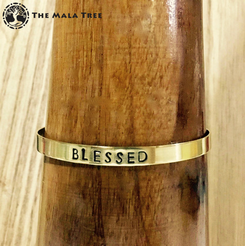 BLESSED Brass MantraCuff (100% Handmade / Adjustable)