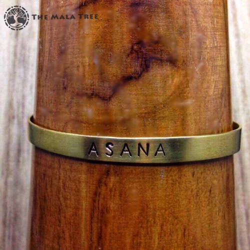 ASANA Brass Sanskrit MantraCuff (100% Handmade / Adjustable)