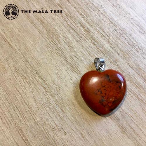 RED JASPER HEART Pendant