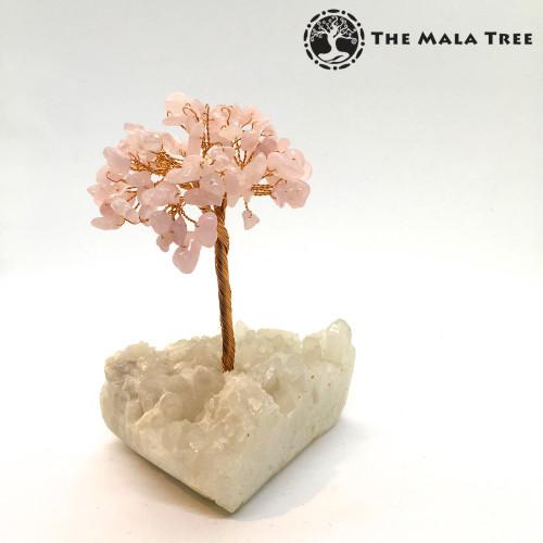 ROSE QUARTZ Gem Tree (on Quartz)