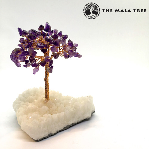 AMETHYST Gem Tree (on Quartz)