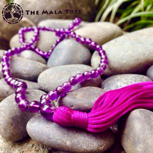 ALL NEAR-PERFECT AMETHYST Classic 108 Japa Mala