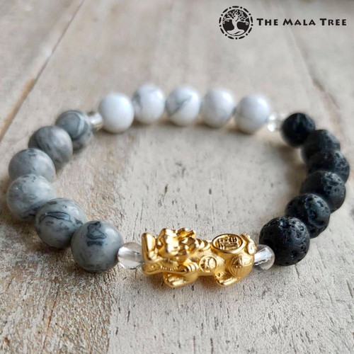 WATER ELEMENT Piyao Bracelet (Gold-Plated Silver)