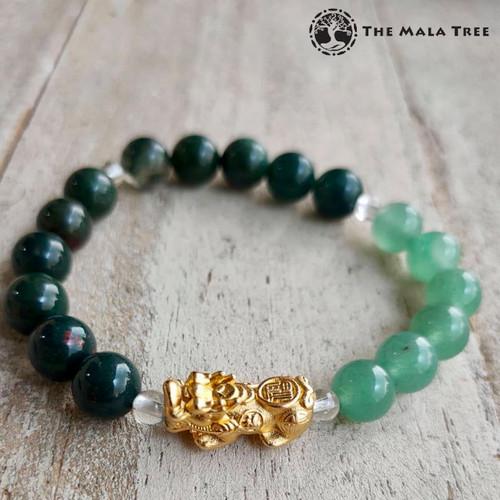 FIRE ELEMENT Piyao Bracelet (Gold-Plated Silver)