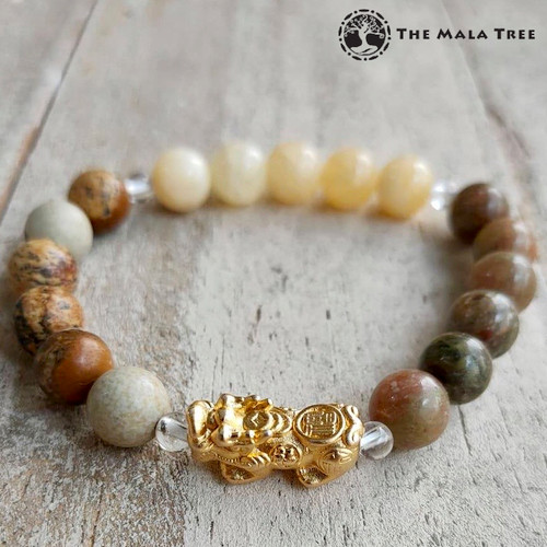 METAL ELEMENT Piyao Bracelet (Gold-Plated Silver)