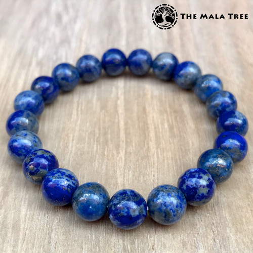 "8mm Lapis Lazuli. Note:  High-quality lapis lazuli is available, too.  Please USE the search function of the  website and type ""Lapis Lazuli"" and all Lapis Lazuli products will show. Thanks."