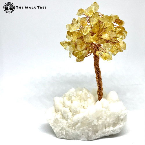 CITRINE Gem Tree (on Quartz)