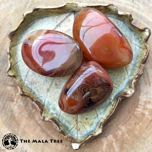 RED AGATE Palm Stone