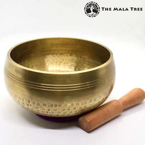 Hand-Hammered Seven Metals Tibetan Singing Bowl