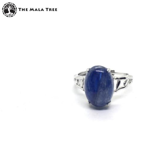 KYANITE Adjustable Silver Ring
