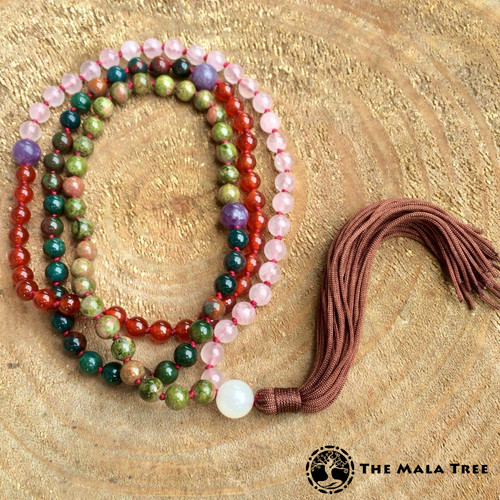 The Tibetan-Style Birthing / New Motherhood Mala (Designed by Wawi Navarroza)