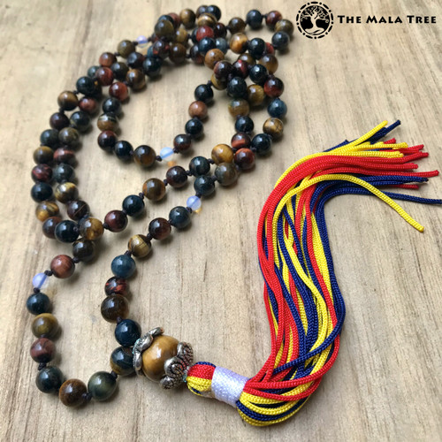 Zen-Style MULTICOLOR TIGER'S EYE Mala