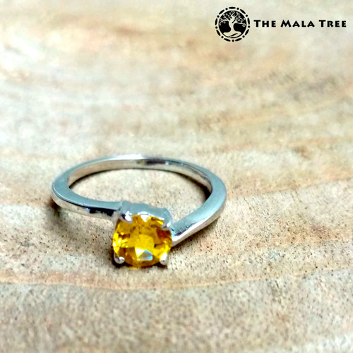 CITRINE Ring Set in Silver