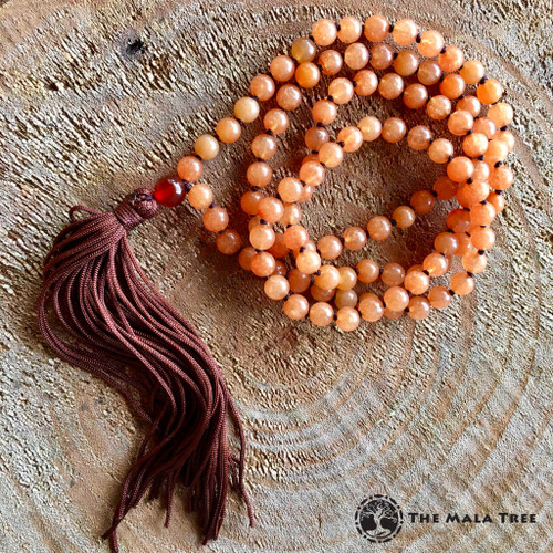 ORANGE AVENTURINE Classic 108 Mala