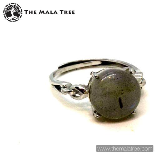 LABRADORITE Ring Set in Silver #2