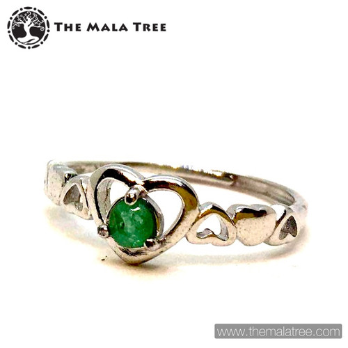 EMERALD Ring Set in Silver