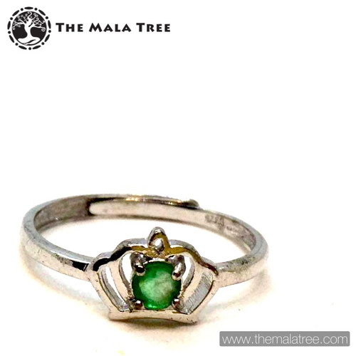 EMERALD Ring Set in Silver #2