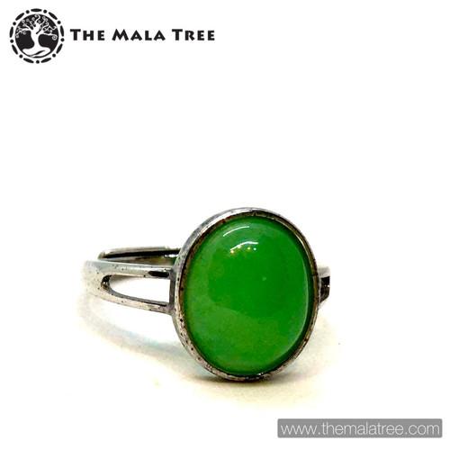 NEPHRITE JADE Ring Set in Silver #2