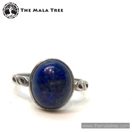 LAPIS LAZULI  Ring Set in Silver #2