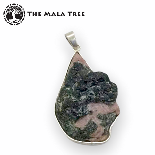 Raw Ruby Pendant 3 (Set in High-Quality Silver / Handmade)