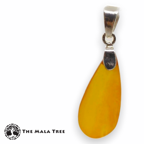 Natural Amber Pendant 3 (with Silver Bail)