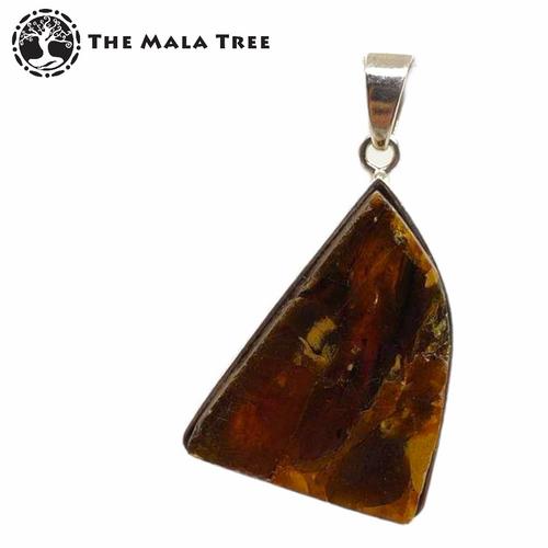Dark Amber Pendant (Set in SIlver)