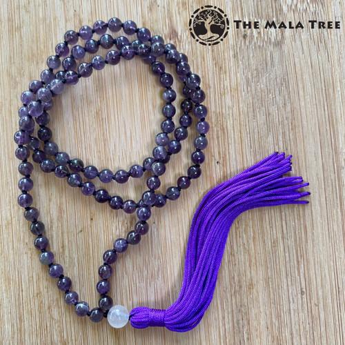 AMETHYST Classic 108 Japa Mala (Design #2)