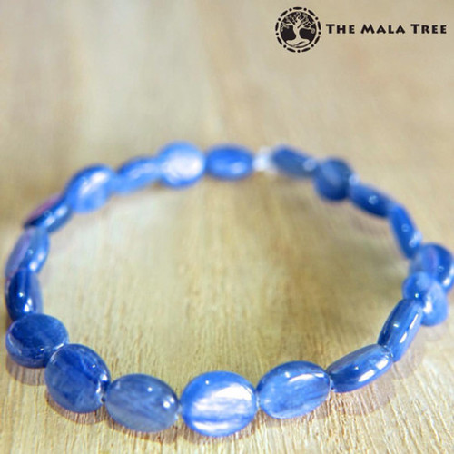 KYANITE (High Quality) Flat Oval Bracelet