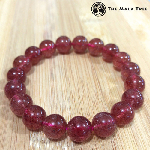 STRAWBERRY QUARTZ (High Quality) Bracelet