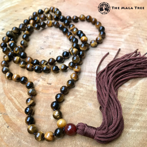 GOLD TIGER'S EYE Classic 108 Japa Mala