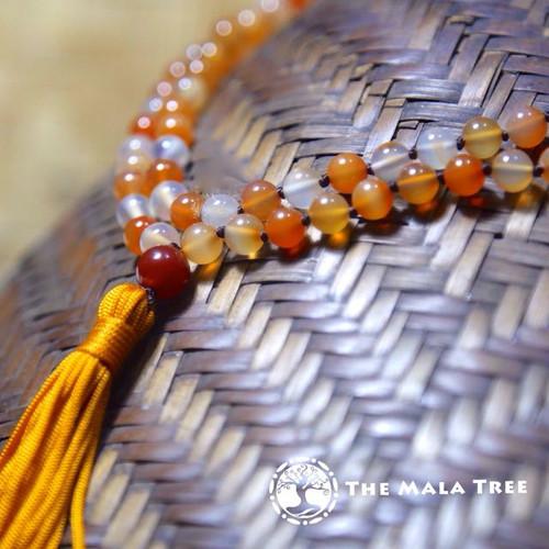 High Quality MULTICOLOR CARNELIAN Classic 108 Japa Mala