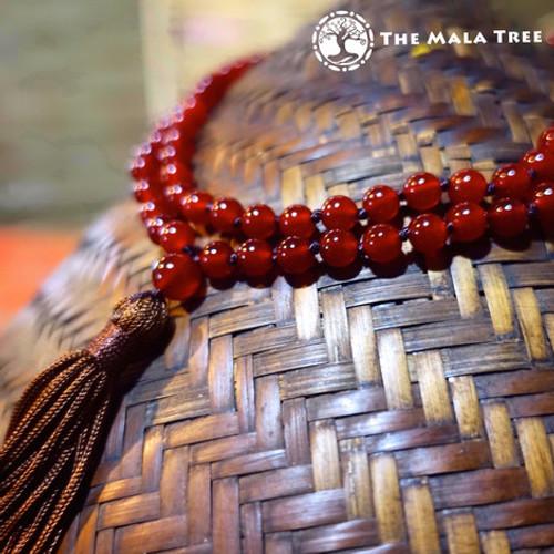 RED CARNELIAN  Classic 108 Japa Mala