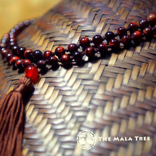 RED TIGER'S EYE Classic 108 Japa Mala