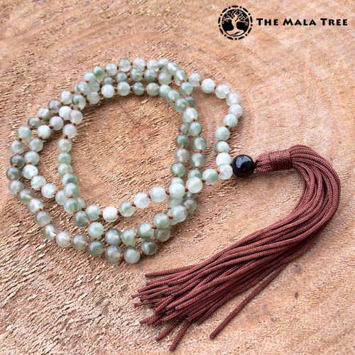 GREEN RUTILATED QUARTZ Classic 108 Japa Mala