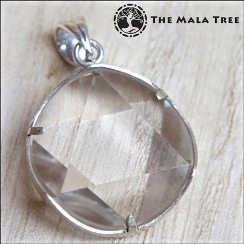 CLEAR QUARTZ Star of David Pendant